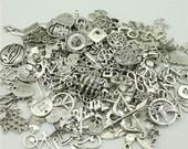Bulk Charm Mix 20 Random Assortment Charms Antique Silver U.S Seller - ts731