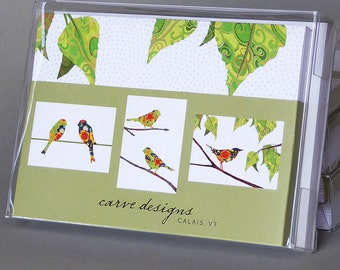 Bird Mix: A box set of 10 blank nature inspired notecards
