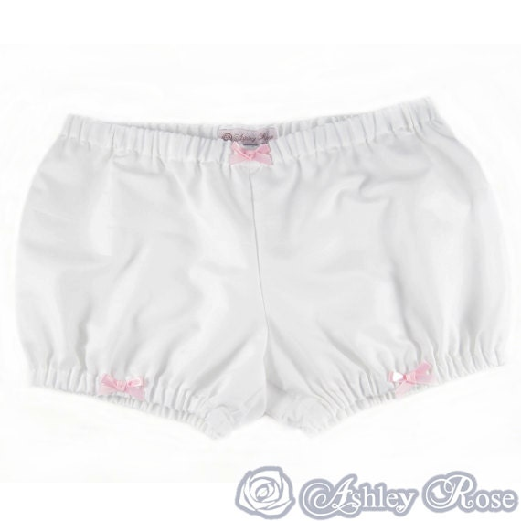 Bloomers white with bows S M L low rise short underwear cotton victorian japanese fashion harajuku kawaii cute