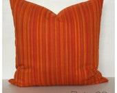 "Vintage 1970s Orange Fabric Cushion Cover 20"" x 20"""