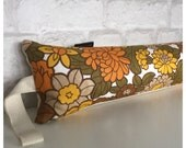 Draught Excluder Handmade From Original Vintage 70s Flowery Fabric
