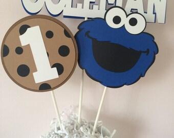 Custom Cookie Monster Centerpiece