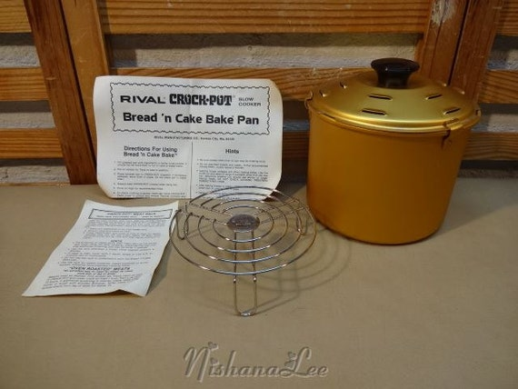 Vintage Rival Crock Pot Slow Cooker Bread and Cake Bake Insert