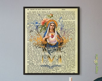 Catholic Dictionary Print: Immaculate Heart of Mary