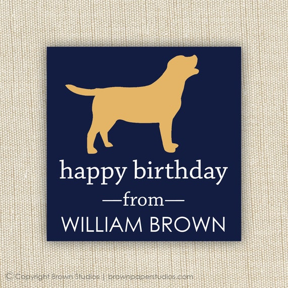 personalized gift tag- label- sticker. dog