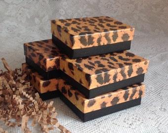 "10 Leopard Gift Jewelry Box Sale - 3 1/4"" x 2 1/4"" x 1"""