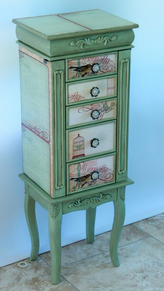 Repurposed Jewelry Armoire- Custom Made To Order