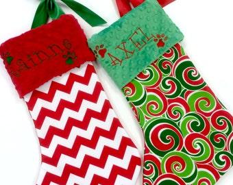 Dog Christmas Stocking, Cat Christmas Stocking, Personalzied Pet Christmas Stocking