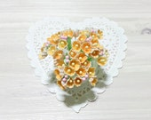 Forget Me Nots Flowers - Vintage Yellow