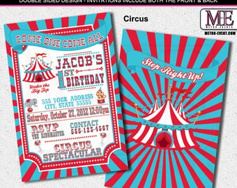 Vintage Circus and Carnival Invitations