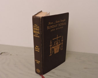 Vintage Missal - New Saint Joseph Sunday Missal  and Hymnal - 1966 - Vintage Prayer Book - Vintage Bible