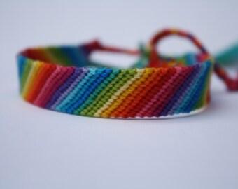 Friendship Bracelet - Rainbow Candy Stripe