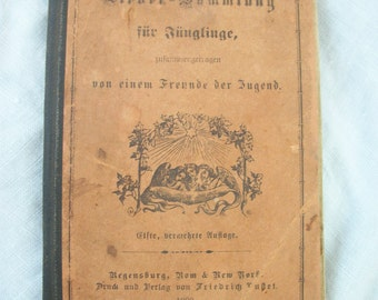 Antique / Very Vintage German Hymns Book ~ Song Book ~ Religious ~ Spiritual. 1900 ~ Multiple pages with music notes ~ Over 200 pages