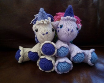 Crochet Unicorns Stuffed Animals Set of Two