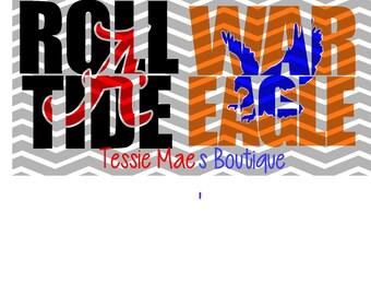 Knockout Designs Instant Digital Download, Tiger, Eagle, Bama, SVG, DXF, EPS