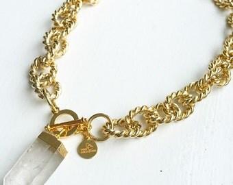 Crystal Quartz Chunky Necklace