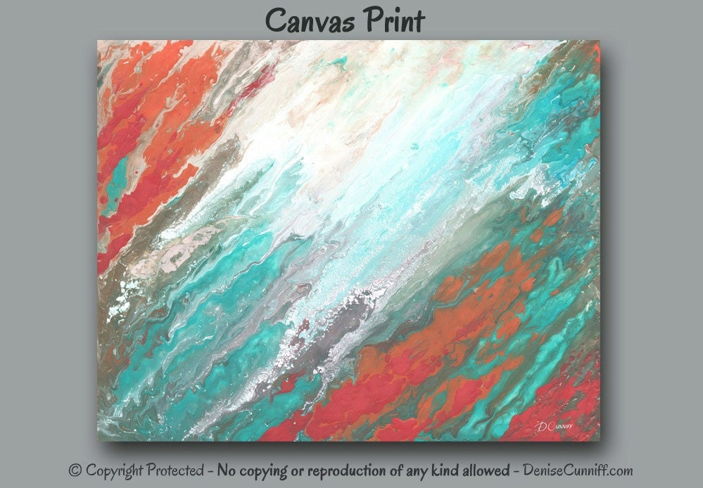Images Of Coral Color Abstract Painting As Good Info For You