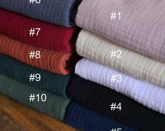 Soft Solid Cotton Fabrics Sold by HALF Meter MJ226