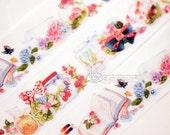 Designer personal Custom made paper masking tape -Limited Edition Forest Tiny world in bottle Flower garden 1 ROLL