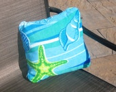 Pillow cover  - 14 x 14 beach towel pillow covers