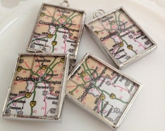 Map Necklace Custom Made