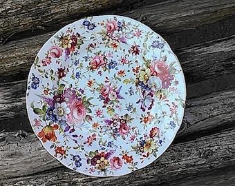 Hammersley Floral Chintz Bone China Plate