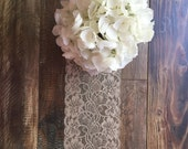 Wedding Table Decor- Lace Runner-Lace Overlays-Rustic Wedings-Vintage Weddings-Farm weddings-Etsy Finds-Etsy Trends-Pintrest Finds