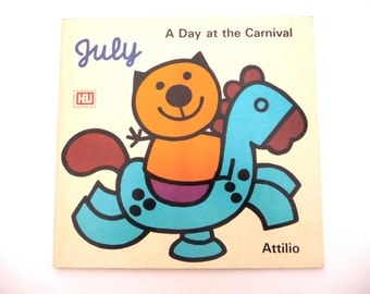 Retro Attilio Cassinelli Book July A Day At The Carnival