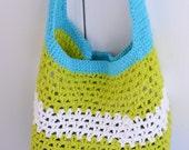 Summer Fun Market or Beach Tote - Crochet Pattern