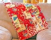 READY TO SHIP Red Cowboy, Baseball, Cars, and Dogs Baby Boy Patchwork Quilt
