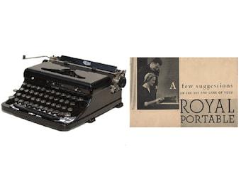 Royal Model O Portable Typewriter User's Manual