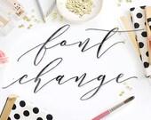 Custom Font Change - business logo - custom logo - premade logo - calligraphy logo