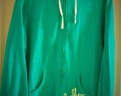 "Vintage ""Firefly"" sports wear Hoodie Size Medium- Large 38"" Bust /40 hip inches Womens Long Sleeve Green"