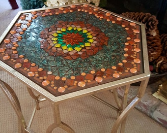 Lovely Mosaic Patio or Accent Table
