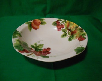 """One (1), 7"""" All Purpose Bowl, from Royal Doulton, in the Vintage Grape TC 1193 Pattern. English Backstamp."""