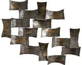 Mid Century Modern Torch Cut Welded Brutalist Wall Sculpture by Degroot