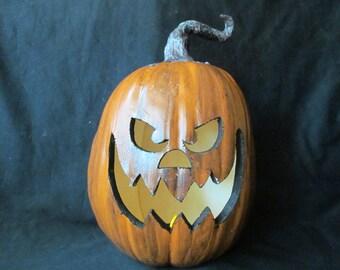 Primitive Sleepy Hallow Pumpkin Lantern