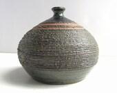 Vintage Studio Pottery Seed Vase Mid Century Modern Joan Chalmers Signed