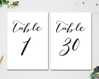Mesmerizing image with diy printable table numbers