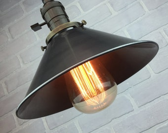Hanging Pendant Light - Industrial Lamp - Edison Bulb Pendant - Industrial Lighting - Rustic Lighting