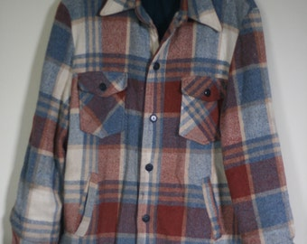 vintage fleece lined wool blend jacket grunge hipster style sears