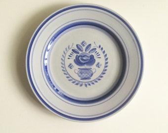 Arabia Finland Blue Rose Dinner Plate
