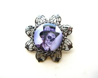 Zombie Brooch - Halloween Brooch - Day of the Dead Pin - Halloween Pin - Halloween Jewelry