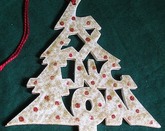 Lexington, handcrafted tree shaped ornament