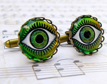 I Have My Eye on You - Vintage glass cufflinks
