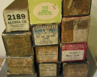 ON SALE Player Piano Rolls in working condition Scrapbook Journal Paper