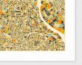 NEW DELHI MAP, Giclee Fine Art Print, Modern Wall Art for your Home Decor