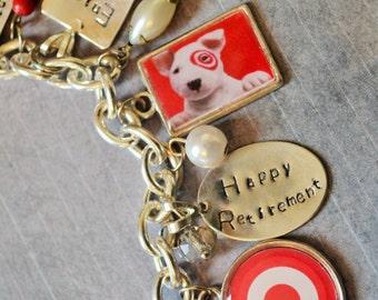 Retirement Gift, Retirement Bracelet, Photo Charm Bracelet, Happy Retirement, Teacher Gift, Coach Gift, Team Leader Gift, Boss Manager Gift