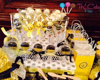 Bumble Bee, Baby Shower, Cake Pops, Babee shower