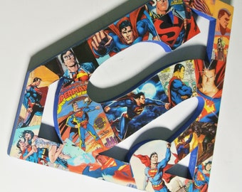 Superman Collage Wall Plaque (made to order)